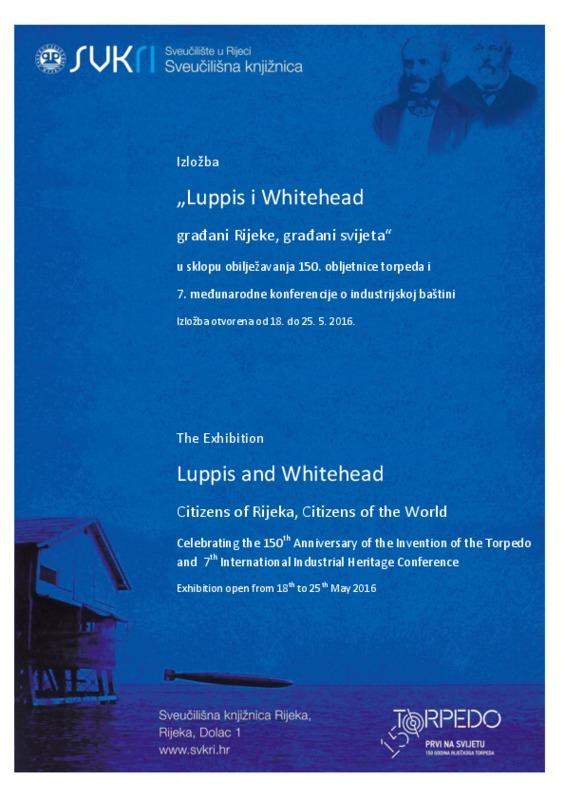 """Katalog izložbe """"Luppis i Whitehead - građani Rijeke, građani svijeta"""""""